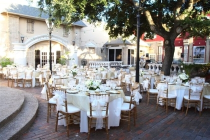the courtyard at gaslight square wedding venues