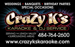 Crazy K's Entertainment & Photo Booth Services - DJs, Lighting, Bands/Live Entertainment - P.O. Box 704, Cherryville, pa, 18035, U.S.A.