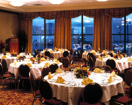 Vancouver Airport Marriott Hotel - Hotels/Accommodations, Reception Sites, Caterers, Rehearsal Lunch/Dinner - 7571 Westminster highway, Richmond, BC, V6X 1A3, Canada