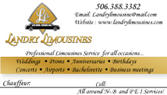 A1 Landry Limousines Services - Limos/Shuttles, Coordinators/Planners - donald, Moncton, New-Brunswick, E4P1P7, Canada