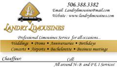 A1 Landry Limousines Services - Limos/Shuttles, Coordinators/Planners - donald, Moncton, New-Brunswick, E4P1P7, Canada