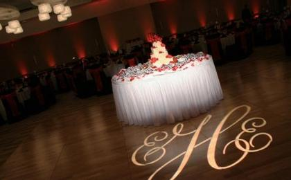 Show off your new monogram with our Gobo lighting! -  - All That Events DJ Up Lighting Photo Booth Candy Buffet