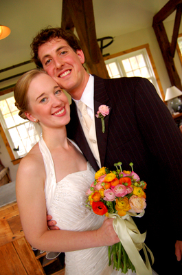 Stephanie and Brad got married in Vermont at an old barn that was redone for weddings. It was rustic and colorful.. and the wedding was full of love and happiness.  - Flowers and Decor - Dragonfly Photography