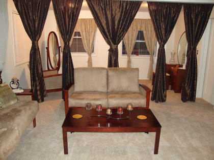 This is our bridal room area. There is a private bathroom, vanity, long mirror and plenty of room for you and your bridal party before the wedding. - Ceremonies - The Ruston Chapel