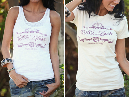 Wedding Chicks offers super cute custom tees, tanks, totes, and signs for your wedding. - Wedding Party Attire - Wedding Chicks