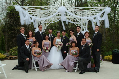A sharp looking Bridal Party in the Savoy Gardens. - Ceremonies - Merighi's Savoy Inn