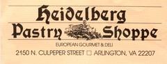 Heidelberg Pastry Shoppe - Cakes/Candies Vendor - 2150 N Culpeper Street, Arlington, VA, 22207, USA