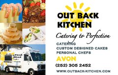 Out Back Kitchen - Caterers, Cakes/Candies - PO Box 337, Avon, NC, 27915, USA