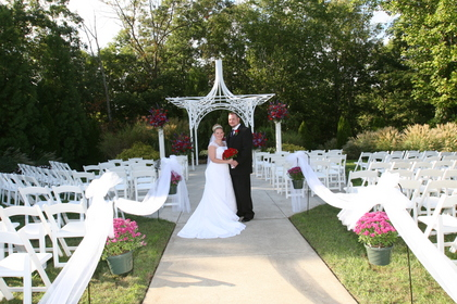 Kelly and Matt show off our beautiful cermeony space on an absolutely perfect September wedding day. - Ceremonies - Merighi's Savoy Inn