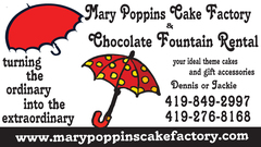 Mary Poppins Cake Factory &amp; Chocolate Fountains - Cakes/Candies, Fountains/Sculptures - Woodville, Ohio, 43469, USA