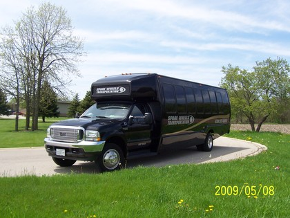 18 passenger limo-bus with bath -  - Spare Wheels Transportation Co. Inc.