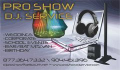ProShow Disc Jockey Service - DJs, Ceremony Musicians, Bands/Live Entertainment - 1093 A1A Beach Blvd, Suite 235, St Augustine, FL, 32080, United Statew