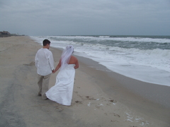 Rebecca and Clifton's Wedding in Kure Beach, NC, USA