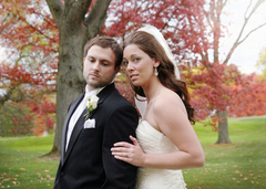 Lansing Wedding In October in Edgemont Park, MI, USA