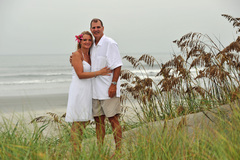 Sunset Beach Wedding In August in Shallotte, NC, USA