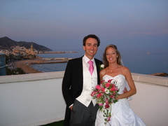Lisa and Francisco's Wedding in Sitges, Spain