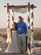 Folly Beach Sc Wedding In March in Folly Beach, SC, USA