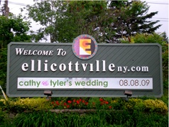 cathy & tyler's wedding map in little valley, ny