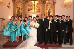 Ceremony and Reception in East Greenhills City, Philippines