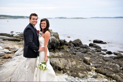 Peaks Island Wedding In August