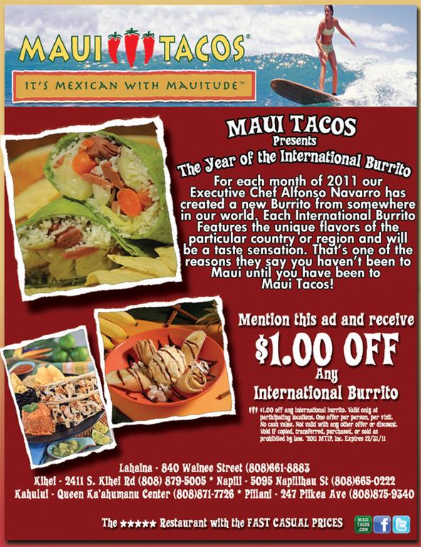 Maui Tacos - Restaurants - 247 Piikea Ave # 10-100, Kihei, HI, United States