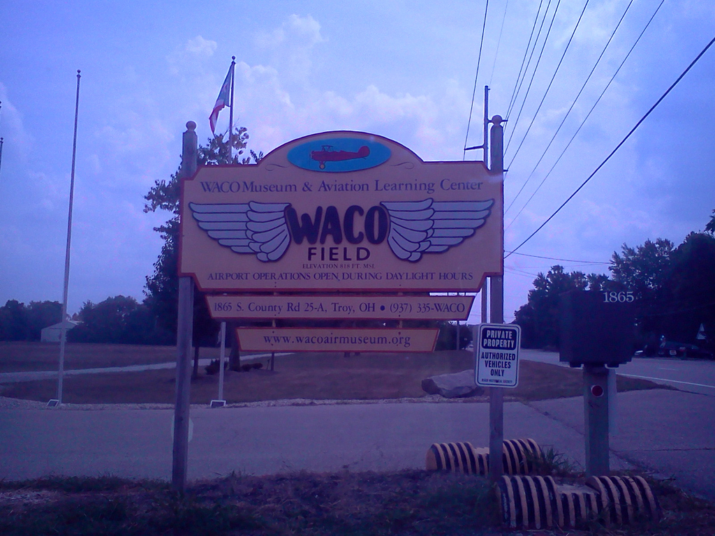 Waco Air Field & Museum - Ceremony Sites - 1865 S County Road 25A, Troy, OH, 45373