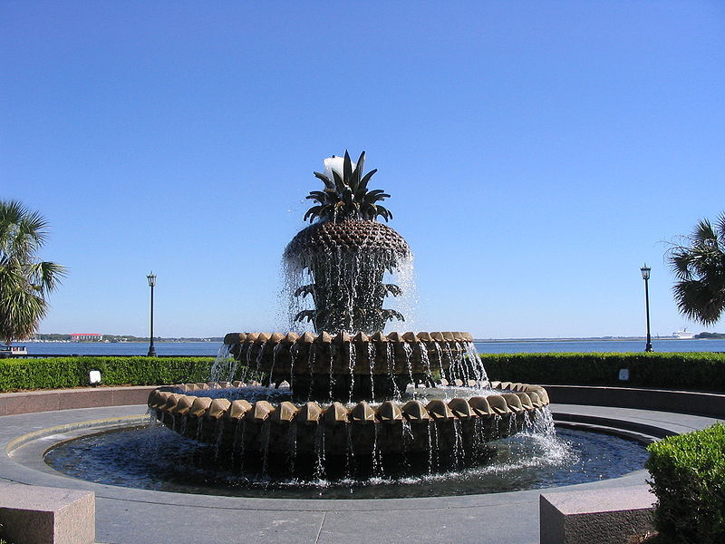 Pineapple Fountain - Attractions/Entertainment, Parks/Recreation - 1 Vendue Range St, Charleston, South Carolina, US