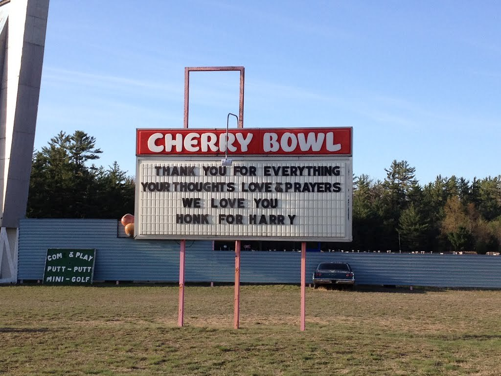 Cherry Bowl Drive-in Theatre - Attractions/Entertainment - 9812 Honor Hwy, Benzie, MI, 49640, US