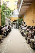 Casa Conde de Pestagua - Ceremony - Cartagena, Bolivar