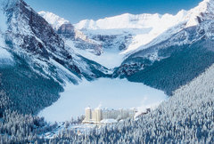 Lake Louise Wedding In February in Lake Louise, AB, Canada