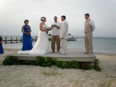 Our Wedding in Pine Knoll Shores, NC, USA