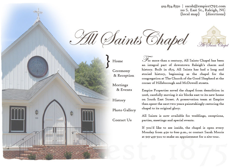 All Saints Chapel - Ceremony Sites, Reception Sites - 110 S East St, Raleigh, NC, 27601
