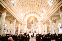 Holy Rosary Church Wedding In September in Prince Frederick, MD