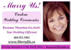 Marry Us Custom Wedding Ceremonies - Officiants, Ceremony & Reception - Vancouver, B.C., Canada