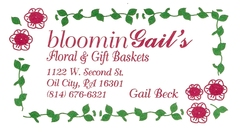 BLOOMINGAIL'S - Florist - 1122 W. 2nd St., Oil City, PA, 16301, USA