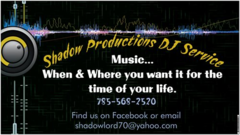 Shadow Productions DJ Service - DJs, Bands/Live Entertainment - Glasco, Kansas, 67445, United States