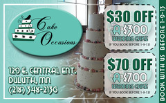 Cake Occasions - Cakes/Candies Vendor - 129 E Central Entrance, Duluth, MN, 55811, St Louis