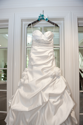 Winnie Couture designed the dress. The Wedding Dress - Honolulu Wedding In June in Honolulu, HI, USA
