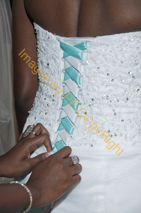 adding some color in my dress . Great idea everyone loved it .  The Wedding Dress - Miami Wedding In June in Miami, FL, USA