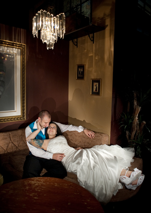 There were small nooks and awesome photo opportunities all over this venue. The Newlyweds - Sara and Shaun's Wedding in Janesville, WI, USA