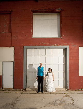 Another great picture taken by Amy Aiello behind our venue. The Newlyweds - Sara and Shaun's Wedding in Janesville, WI, USA