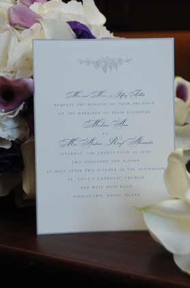 The Invitations - Melissa and Andrew's Wedding in Newport, RI, USA