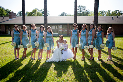 Wedding Party Attire - Dianna and Joseph's Wedding in Jackson, MS, USA