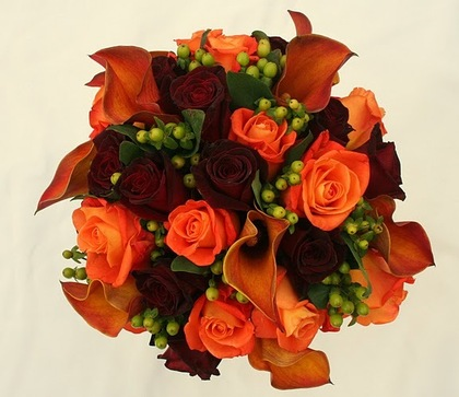 Fall Bridal Bouquet Flowers and Decor - Plum Wedding In November in Plum, PA, USA