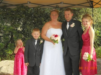 Jeanne & Shawn and our children. We all have the same last name now! The Newlyweds - jeanne and Shawn's Wedding in Boston, MA, USA