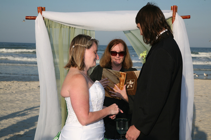 The Ceremony - Daytona Beach Shores Wedding In March in Daytona Beach Shores, FL, USA