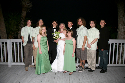 Wedding Party Attire - Daytona Beach Shores Wedding In March in Daytona Beach Shores, FL, USA