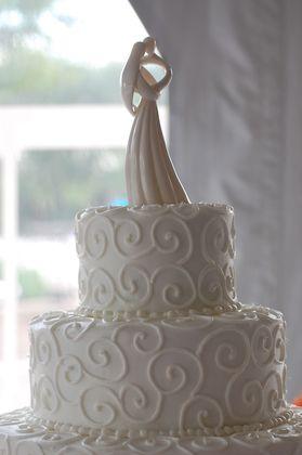 "Sharon's Custom Cakes is great. Sharon is also known as ""the cake lady"" in Crete, IL where she is located. Her cakes are delicious!  She can do almost anything.  The bigger the challenge the happier she is!  She is also on facebook check out her pictures. Cakes and Desserts - Kelly and Michaell's Wedding in Frankfort, IL, USA"