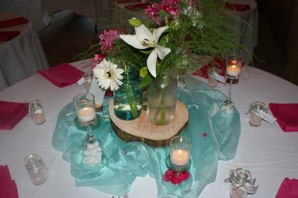Centerpiece Flowers and Decor - Courtney and Clay's Wedding in Olympia, WA, USA