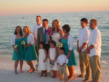 Wedding Party Attire - Juliet and Philip's Wedding in Santa Rosa Beach, FL, USA